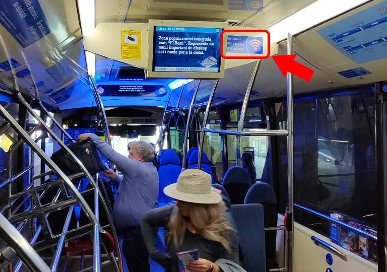 バルセロナ 空港バスの画像
