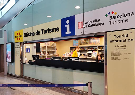 バルセロナ観光 バルセロナ空港から市内のアクセス 空港バス(アエロバス)のチケットオフィス