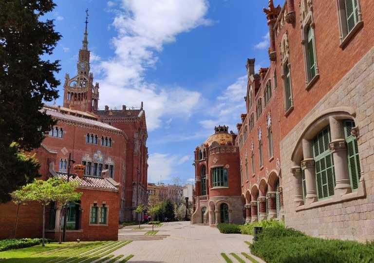 バルセロナ観光 おすすめ観光地・モデルコース サンパウ病院(Hospital de Sant Pau)