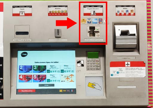 バルセロナ観光 地下鉄(メトロ) チケットの買い方 自動券売機