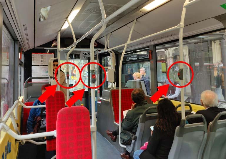 バルセロナ観光 バス車内