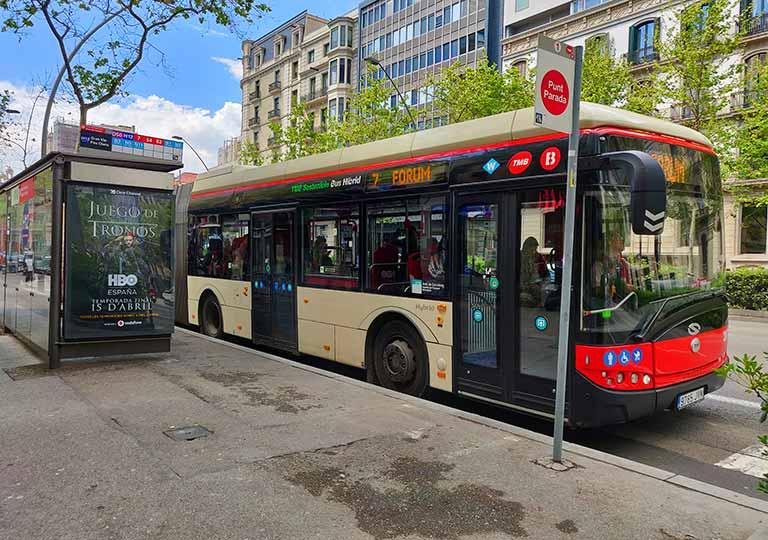 バルセロナ観光 市バス