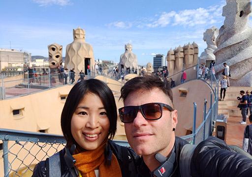 バルセロナ観光 カサ・ミラの屋上