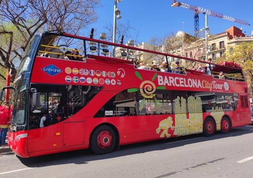 バルセロナ観光 バルセロナ・シティー・ツアーのバス