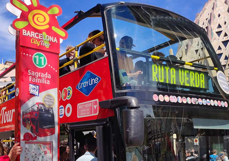 バルセロナ観光 バルセロナ・シティー・ツアーのバス停