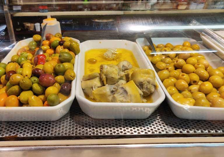 バルセロナグルメ タパスバル エル・シャンパニェットの食べ物