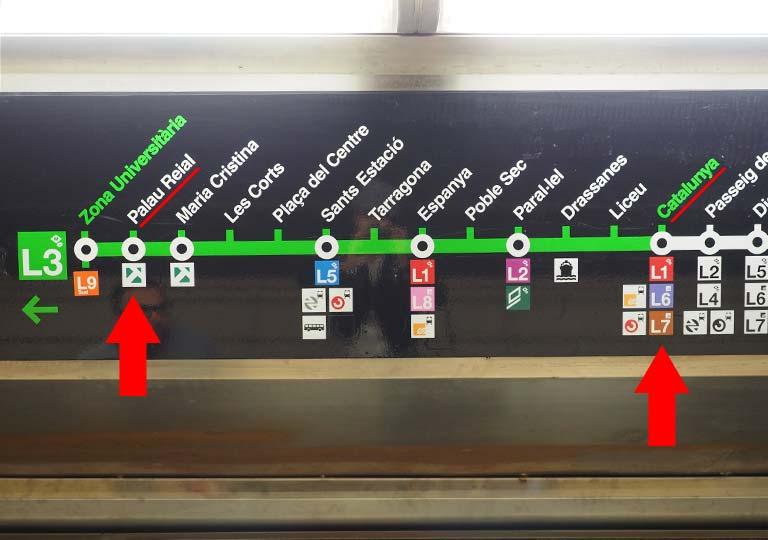 バルセロナ 地下鉄  3号線(L3)