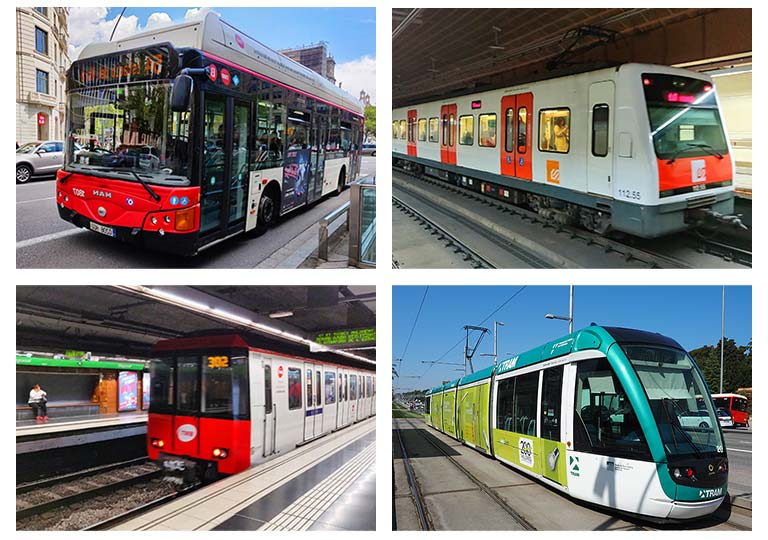 バルセロナの交通機関 バス、地下鉄、近郊電車、トラム