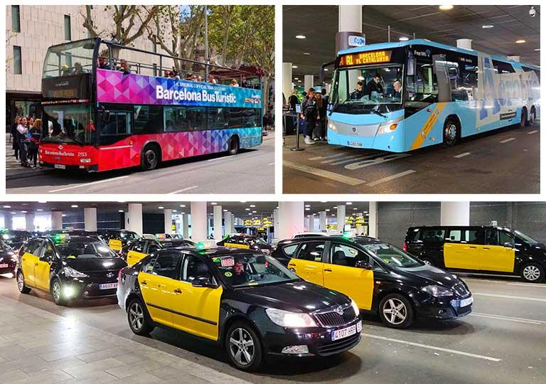 バルセロナの交通機関 エアロバス、タクシー、観光バス