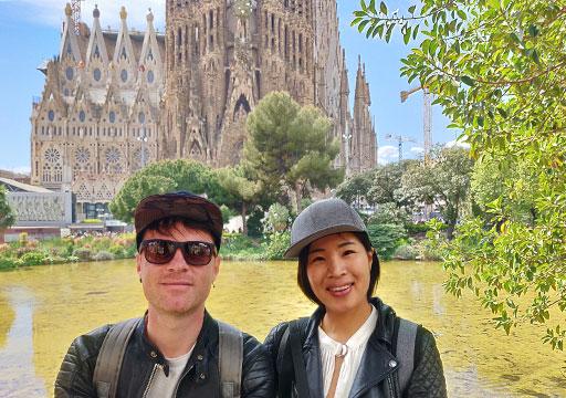 バルセロナ観光 サグラダファミリア  セルフィー