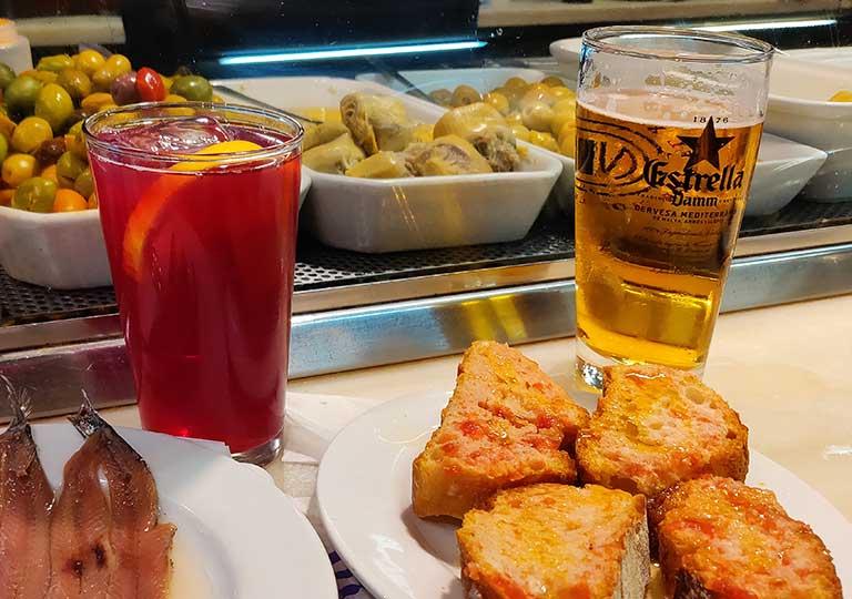 バルセロナグルメ エル・シャンパニェットのティント・デ・ベラーノ ワインとレモネード