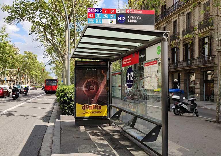 バルセロナ観光 バス停