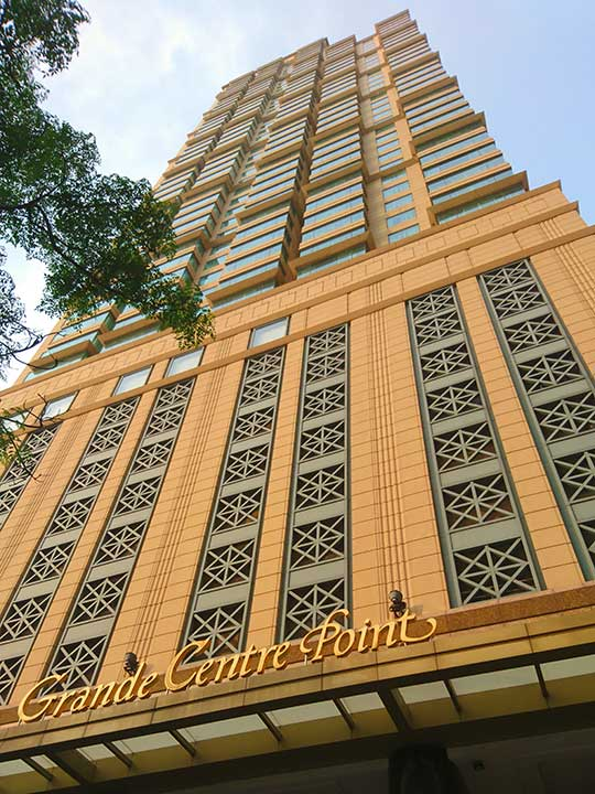 バンコク サイアムのおすすめホテル グランデ センター ポイント ホテル ラチャダムリ