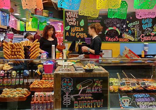 バルセロナグルメ ボケリア市場 ブリトー店