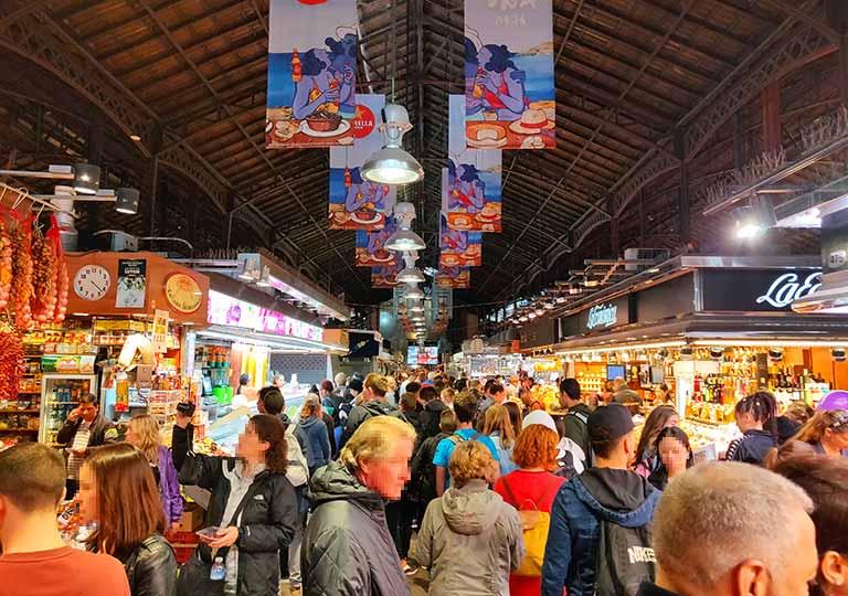 バルセロナグルメ ボケリア市場 店内