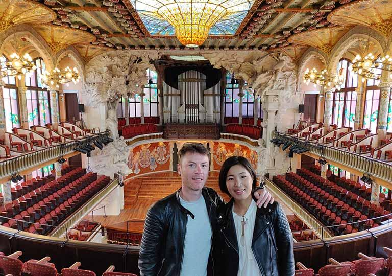 バルセロナ観光  カタルーニャ音楽堂 大ホール