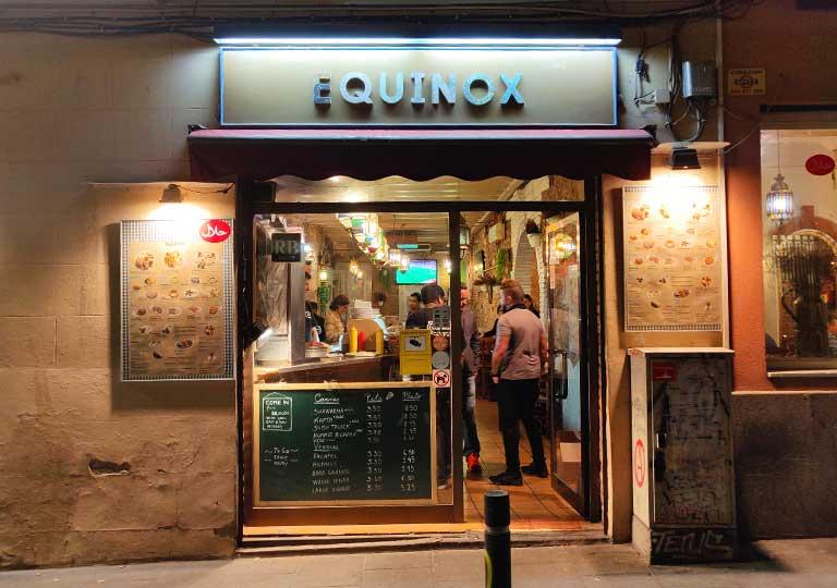 バルセロナ観光 レバノン料理のレストラン