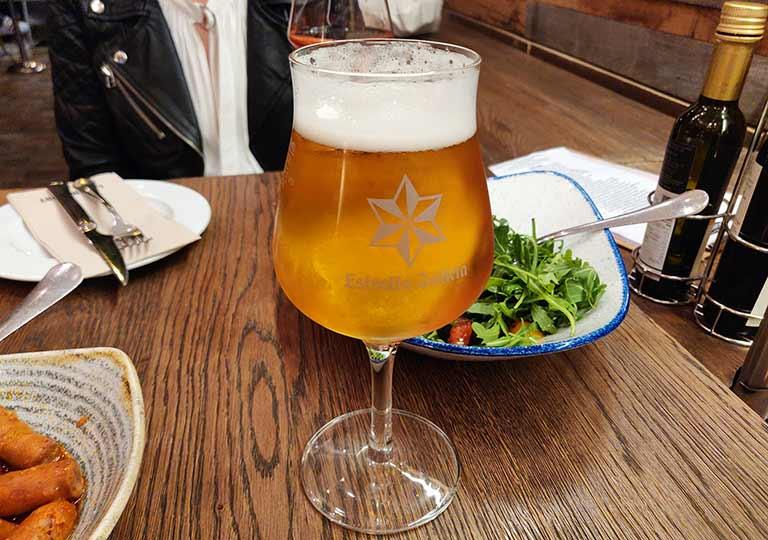 バルセロナグルメ La Bona Sortレストラン ビール