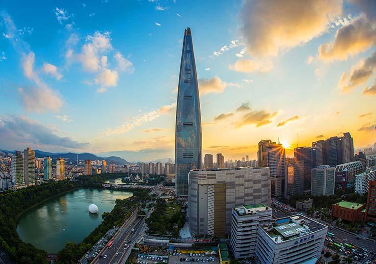 韓国 ソウルのロッテワールドタワー