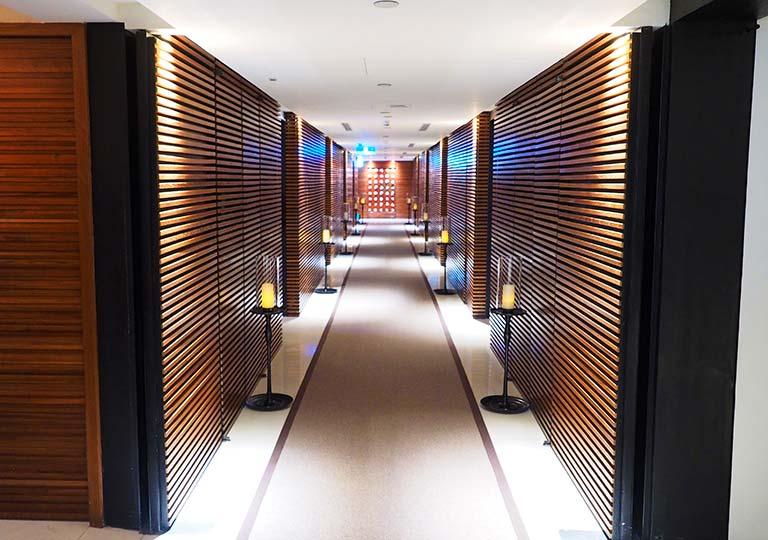 リージェント台北ホテル 沐蘭SPA(ムーランスパ)の廊下