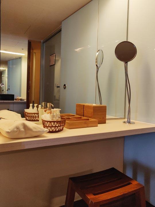 リージェント台北ホテル 沐蘭SPA(ムーランスパ)の施術室の洗面台