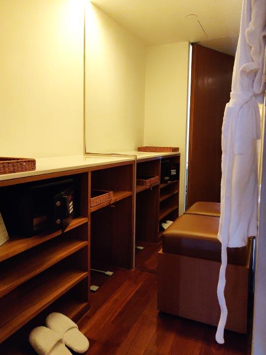 リージェント台北ホテル 沐蘭SPA(ムーランスパ)の施術室の更衣室