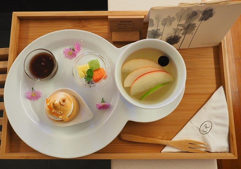 リージェント台北ホテル 沐蘭SPA(ムーランスパ)のデザートとお茶