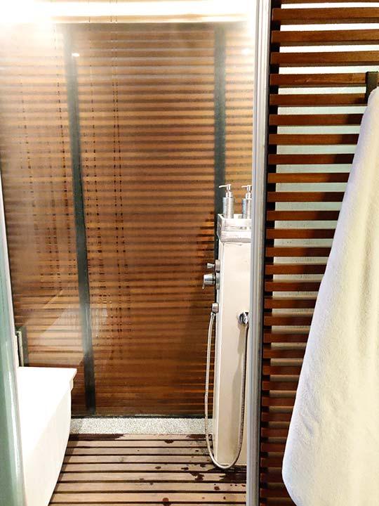 リージェント台北ホテル 沐蘭SPA(ムーランスパ)の施術室のシャワールーム