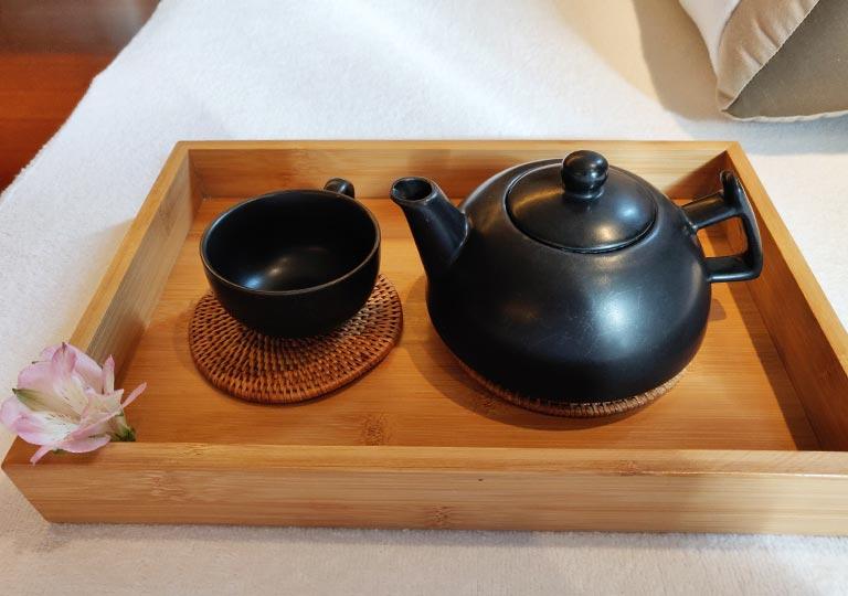 リージェント台北ホテル 沐蘭SPA(ムーランスパ)の施術室のお茶
