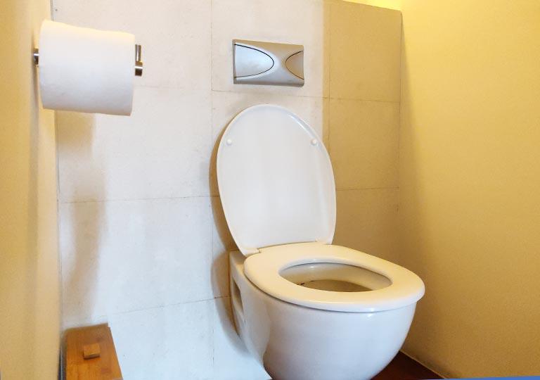 リージェント台北ホテル 沐蘭SPA(ムーランスパ)の施術室のトイレ