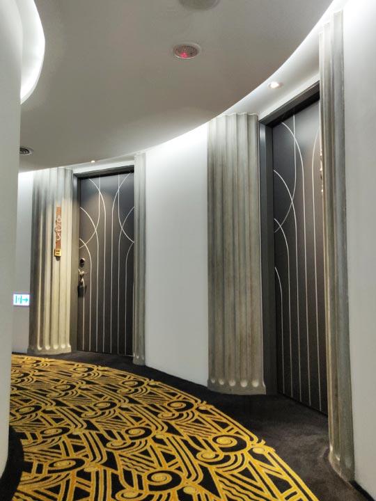 台中 1969ブルースカイホテル(1969 藍天飯店)の廊下