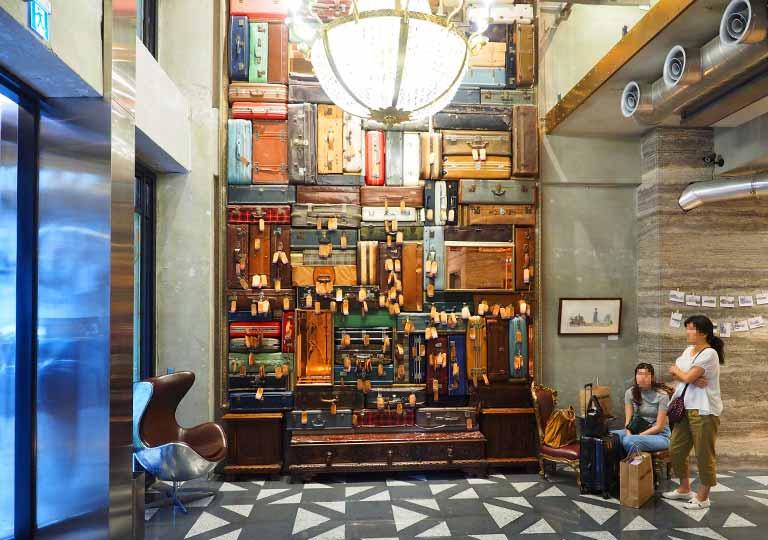 台中 1969ブルースカイホテル(1969 藍天飯店)のロビー