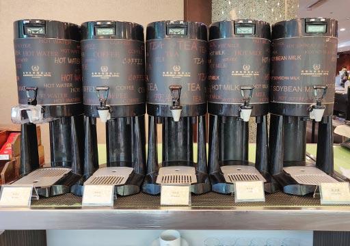 台中 エバーグリーンローレルホテル(長栄桂冠酒店) 朝食ビュッフェのホットドリンク