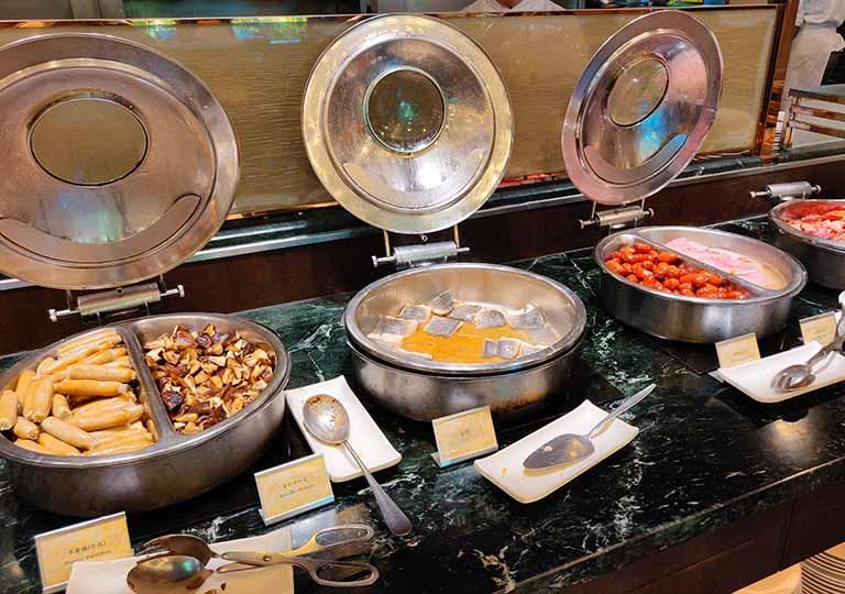 台中 エバーグリーンローレルホテル(長栄桂冠酒店) 朝食ビュッフェの料理