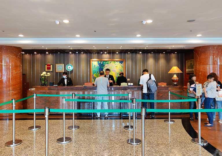 台中 エバーグリーンローレルホテル(長栄桂冠酒店) レセプション