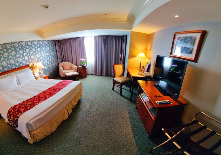 台中 エバーグリーンローレルホテル(長栄桂冠酒店) 客室のパノラマ画像