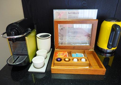 台中 レッドドットホテル(紅點文旅) 客室のコーヒー・お茶