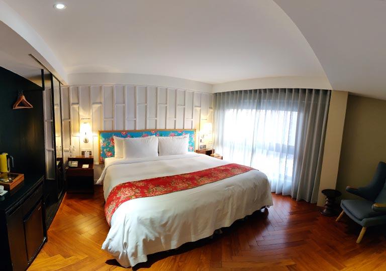 台中 レッドドットホテル(紅點文旅) 客室のパノラマ画像