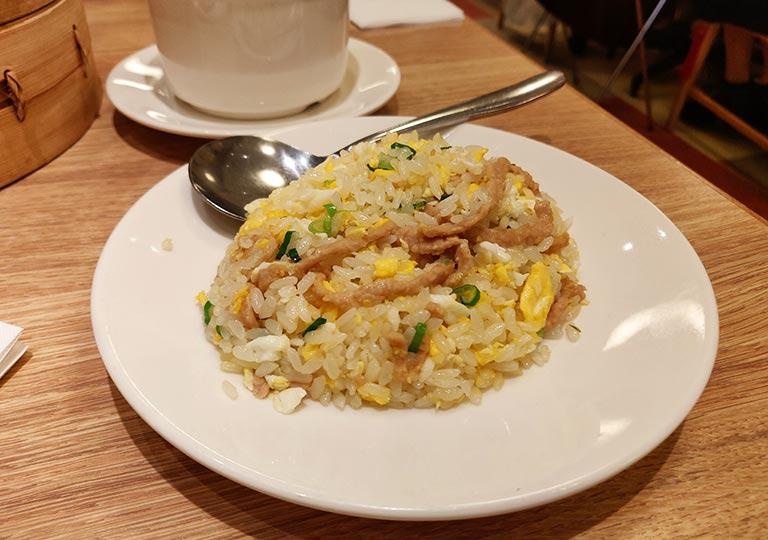 ディンタイフォン台北本店の料理 豚肉チャ一ハン