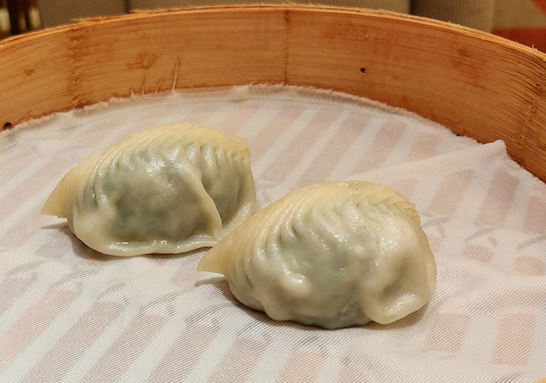 ディンタイフォン台北本店の料理 野菜と豚肉入り蒸し餃子