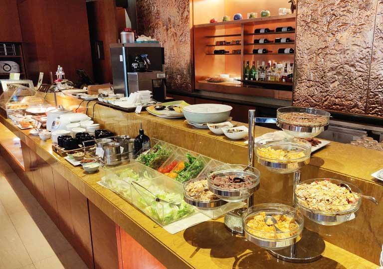 サンワンレジデンシズ台北(San Want Residences Taipei) 朝食ビュッフェの料理