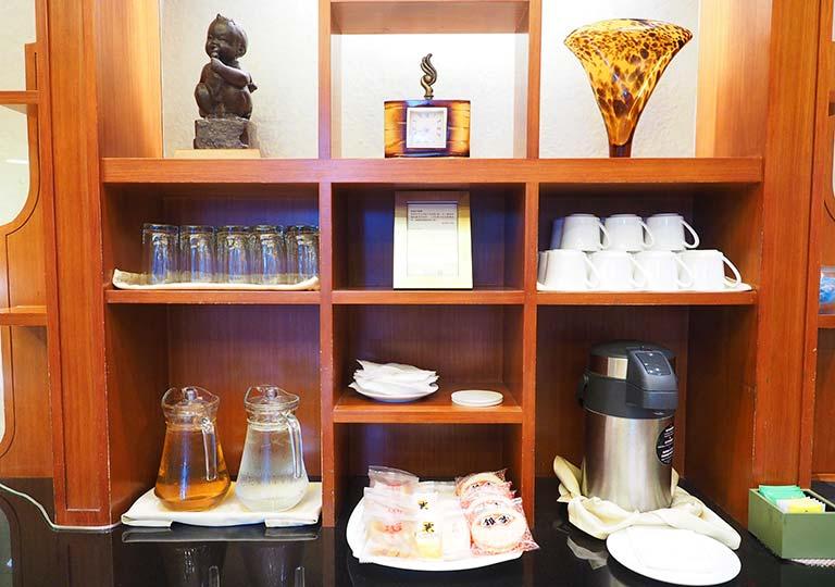 サンワンレジデンシズ台北(San Want Residences Taipei) レジデンスラウンジの無料のドリンク・軽食