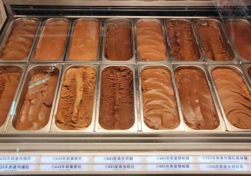 台中の宮原眼科 アイスクリームのフレーバー