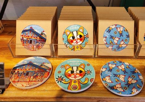 台中 彩虹眷村(Rainbow Village)のブティック店のコースター