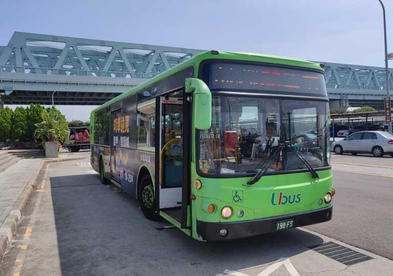 台中 新烏日駅のバス停から出るバス56番