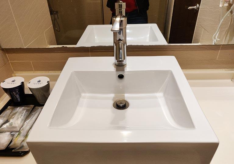 シティスイーツ桃園ゲートウェイ(City Suites - Taoyuan Gateway) 客室の洗面台の洗面器