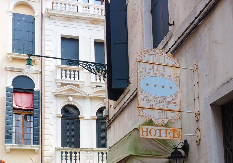 ベネチア ホテル アル ポンテ デイ ソスピーリ (Hotel Al ponte dei sospiri)