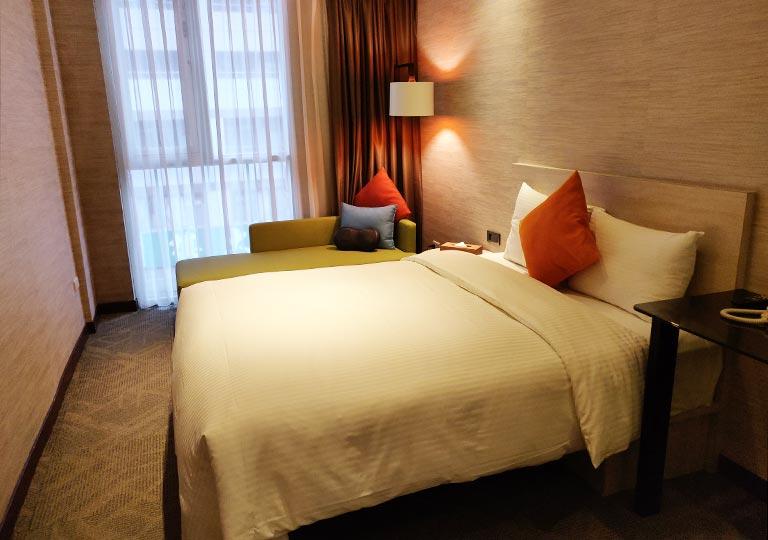 ヴィアホテル台北ステーション(Via Hotel Taipei Station) 客室のベッド