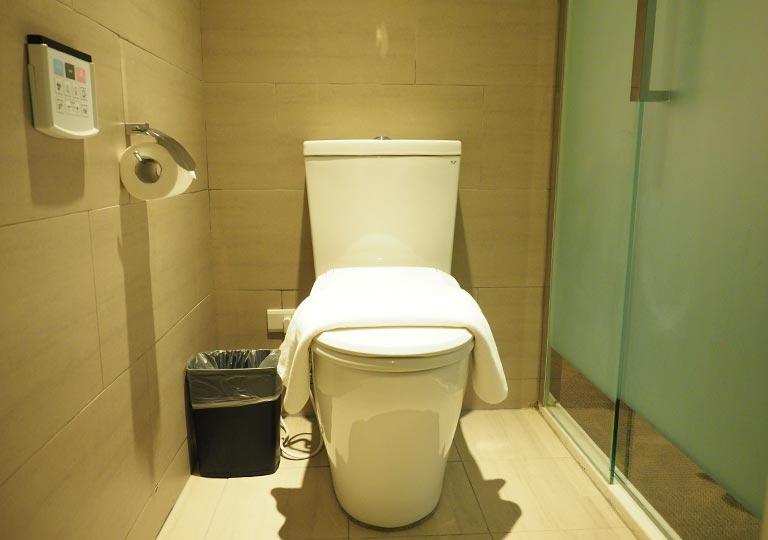 ヴィアホテル台北ステーション(Via Hotel Taipei Station) 客室のトイレ