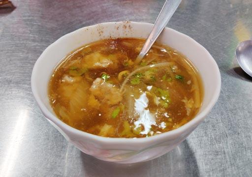台中 第二市場の肉団子スープ(肉熘湯)